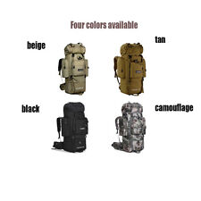 Large Camping Hinking Travel Sport Tactical Backpack Military Ruchsack Bag Black