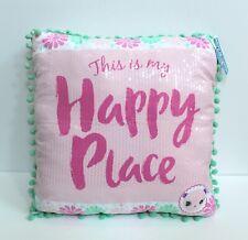 Shopkins Happy Places Sequins Pompom Trim Throw Pillow - Pink