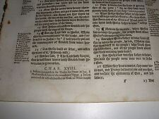 Very Rare ORIGINAL 1616 GENEVA Bible Leaf JEHOVAH Ex 17:15  Watchtower research