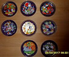 Bjorn Wiinblad, 8 pieces Aladin plates wunderlamp - made by Rosenthal.