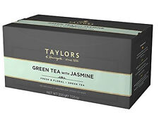 Taylors of Harrogate Green Tea with Jasmine Tea Bags - 100 Wrapped & Tagged Bags