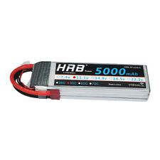 HRB 11.1V 3S 5000mAh LiPo Battery 50C Deans T Plug for RC Helicopter Car Model