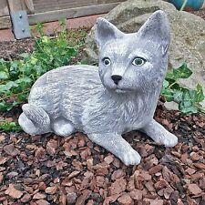 Steinfigur Katze Mieze Deko Garten Steinguss Gartenfiguren Frostfrei H 22cm 05 A