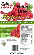 Freeze Dried Organic Raspberries - Made in Canada - Shipped from Canada