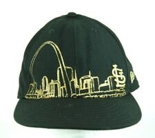 Gold Glittered City Scape MLB St. Louis Cardinals Fitted Cap Hat Black 7(1/2) XL