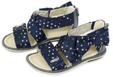 GEOX Girls Gladiator Sandals Navy Bow Polka Dot Shoes ~ 29 Euro - 11 US EEUC tj