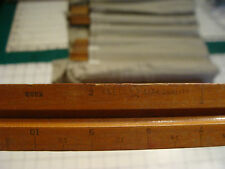 Vintage TRIANGULAR RULER: early wooden K & E 8882 scales in description