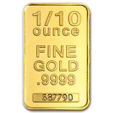 1/10 oz Gold Bar - Secondary Market - SKU #45516