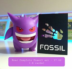 Pokemon TCG - Near Complete Fossil set 17-62 NM-LP (-8 cards)