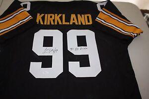 PITTSBURGH STEELERS LEVON KIRKLAND #99 SIGNED HOME JERSEY JSA CERTIFIED W/INSC
