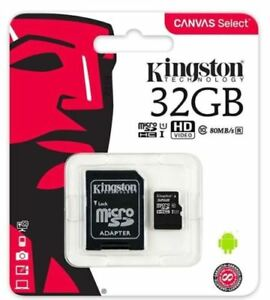 Kingston Micro SD 32GB SDHC Memory Card SD TF Mobile Phone Class 10 with Adapter