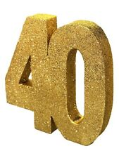 Gold Glitter 40th Birthday/Anniversary Celebration Centrepiece Table Decoration