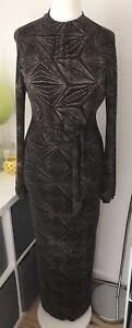 principles by ben de lisi Stunning Gold & Black Evening Dress Size 12