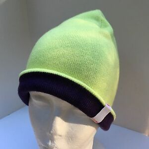 Burton Reversible Beanie Lime Green And Purple