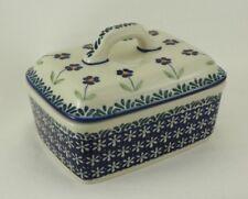 Bunzlauer Keramik Butterdose, für 250g, Butterkästchen, Butterbox (M078-ASS)