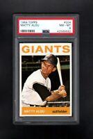1964 TOPPS #204 MATTY ALOU SAN FRANCISCO GIANTS PSA 8 NM/MT CENTERED!