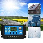 LCD Solar Panel Battery Regulator Charger Dual Controller 2 USB 10 20 30A 12/24V