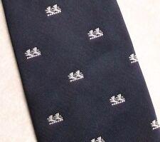 Vintage Tie MENS Necktie Crested Club Association Society LION