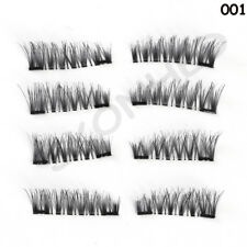 8 Pcs/Set False Lashes Double Magnetic False Eyelashes Thick Cross No Glue