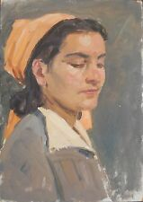 Armenia,Soviet Painting,Impressionism,1950s Young Woman,Armenian Modern Art