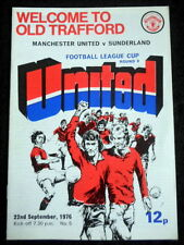 Manchester United v Sunderland   League Cup 3rd Round   22-9-1976