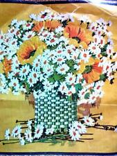 1972 Paragon - Giant Bouquet - Crewel Kit 26x29 from Family Circle started