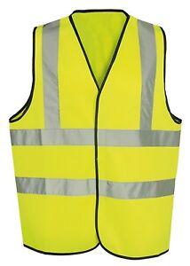 Yellow  Hi Vis High Viz Visibility Waistcoat Safety Vest Jacket EN471 Work Size