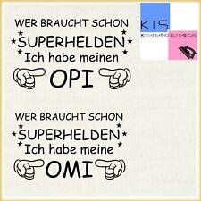 💪 Bügelbild Hotfix  Wer braucht schon Superhelden Opi Omi  Flexfolie 20 Fb 💪🏻