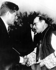 President John F. Kennedy is greeted by Bishop in St. Paul Minn New 8x10 Photo