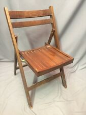 Folding Wood Chair Vintage Bistro Seat Mid Century Made In Romania