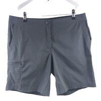 LL Bean Women's Trail Bermuda Gray Shorts Nylon/ Spandex Size 12 Large