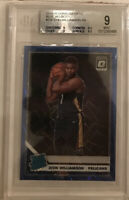 2019-20 Optic Zion Williamson Prizm Blue Velocity Rated Rookie RC BGS 9 MINT
