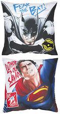 NEW BATMAN Vs SUPERMAN CLASH CUSHION PILLOW - KIDS BEDROOM BOYS BED MOVIE PLAY
