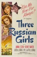 THREE RUSSIAN GIRLS Movie POSTER 27x40 Anna Sten Kent Smith Mimi Forsythe