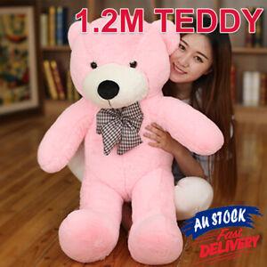 1.2M Animal Teddy Stuffed Bear Gift Cuddly Doll Pink Toy Soft Plush Giant ACB#