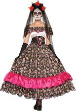 Spanish Lady Mexicos Day of The Dead Skeleton Festival Costume - 74798