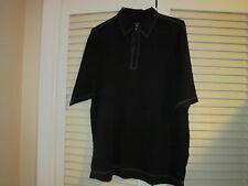 Tiger Wood Collection Man's Golf Shirt - Black, Size L