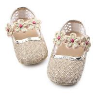 Cinda Bébé Filles Brillants Chaussures de Fête en Rose or Blanc 3 6 9 12 Mois