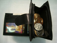 Mens Soft Leather Wallet With Large Zipped Coin Pocket,With Card and Note Space