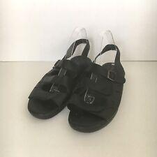 Propet W0001 Women's Breeze Walker Leather Strap Sandals Size 12 N (AA)  Black