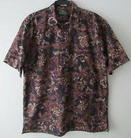 "Vintage Auth Michael Thomas USA Hawaiian 5 Button Polo Shirt 47""-122cm L (635H"