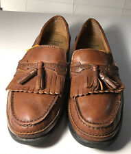 Dockers Men's Size 10 M Brown Leather Tassle Loafer Slip On Casual Shoes EUC