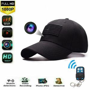 32GB 1080P HD Hat Hidden Micro Spy Camera Remote control Support Video Recorder