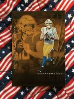 JUSTIN HERBERT ROOKIE 2020 PANINI ILLUSIONS (LOS ANGELES CHARGERS) #7 (GOLD)