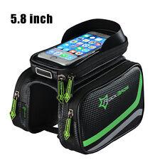 "RockBros Cycling Frame Bag Pannier Tube Bag Touchscreen Bike 5.8"" Phone Holder"