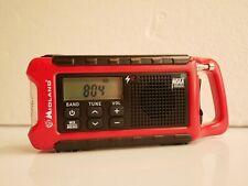 Compact Midland NOAA Weather Radio with AM/FM, Hand Crank, Battery, Solar - Mint