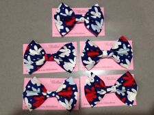 Oobi Blue bunny Large Bow By billies Bows