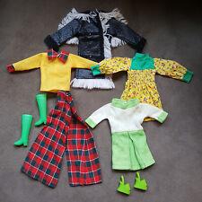 *Lot 3 Barbie Doll Clothes Vintage Mod 7 Pcs Coat Kriss Krinkle #1704, Hong Kong