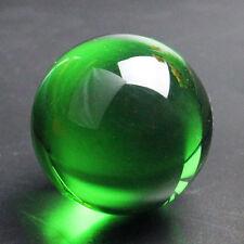 Healing Magic Green Crystal Glass Ball Top Quality Quartz Gemstone Stone 40MM