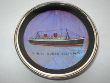 C1950S CUNARD R.M.S QUEEN ELIZABETH SOUVENIR BUTTERFLY WING HANG UP PICTURE